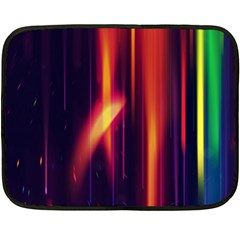 Perfection Graphic Colorful Lines Double Sided Fleece Blanket (mini)