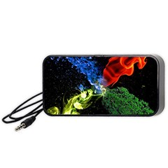 Perfect Amoled Screens Fire Water Leaf Sun Portable Speaker (black) by Mariart