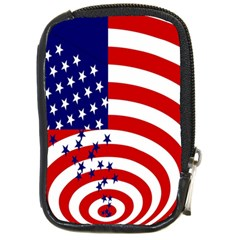 Star Line Hole Red Blue Compact Camera Cases by Mariart
