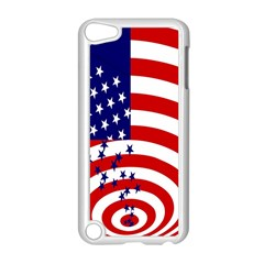Star Line Hole Red Blue Apple Ipod Touch 5 Case (white) by Mariart