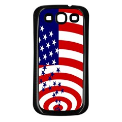 Star Line Hole Red Blue Samsung Galaxy S3 Back Case (black) by Mariart