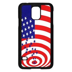 Star Line Hole Red Blue Samsung Galaxy S5 Case (black) by Mariart
