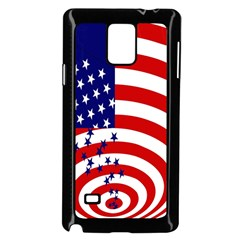 Star Line Hole Red Blue Samsung Galaxy Note 4 Case (black) by Mariart