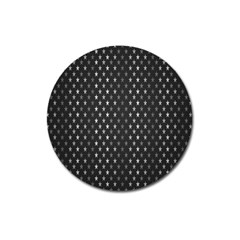Rabstol Net Black White Space Light Magnet 3  (round) by Mariart