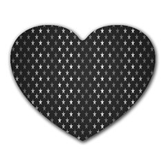 Rabstol Net Black White Space Light Heart Mousepads by Mariart