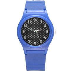 Rabstol Net Black White Space Light Round Plastic Sport Watch (s) by Mariart