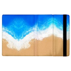 Sand Beach Water Sea Blue Brown Waves Wave Apple Ipad 2 Flip Case by Mariart