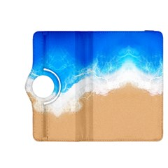 Sand Beach Water Sea Blue Brown Waves Wave Kindle Fire Hdx 8 9  Flip 360 Case by Mariart