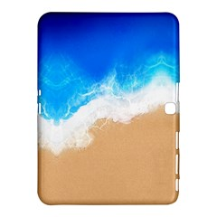 Sand Beach Water Sea Blue Brown Waves Wave Samsung Galaxy Tab 4 (10 1 ) Hardshell Case  by Mariart