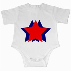 Stars Red Blue Infant Creepers by Mariart