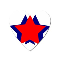 Stars Red Blue Heart Magnet by Mariart