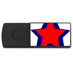 Stars Red Blue Usb Flash Drive Rectangular (4 Gb) by Mariart