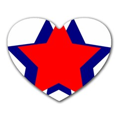 Stars Red Blue Heart Mousepads by Mariart