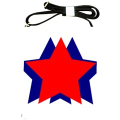 Stars Red Blue Shoulder Sling Bags by Mariart