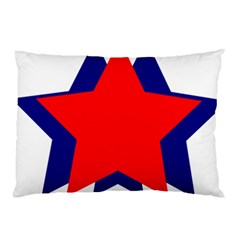 Stars Red Blue Pillow Case (two Sides) by Mariart