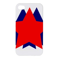 Stars Red Blue Apple Iphone 4/4s Hardshell Case by Mariart