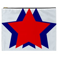Stars Red Blue Cosmetic Bag (xxxl)  by Mariart