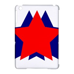 Stars Red Blue Apple Ipad Mini Hardshell Case (compatible With Smart Cover) by Mariart