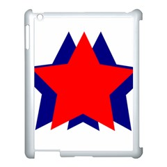 Stars Red Blue Apple Ipad 3/4 Case (white) by Mariart