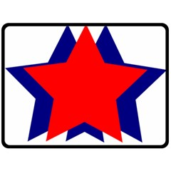 Stars Red Blue Double Sided Fleece Blanket (large)  by Mariart