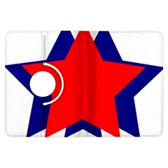 Stars Red Blue Kindle Fire Hdx Flip 360 Case by Mariart