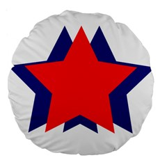 Stars Red Blue Large 18  Premium Flano Round Cushions by Mariart