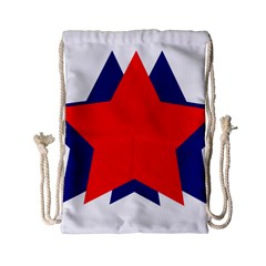 Stars Red Blue Drawstring Bag (small) by Mariart