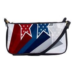 Star Red Blue White Line Space Shoulder Clutch Bags by Mariart