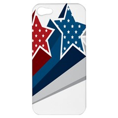 Star Red Blue White Line Space Apple Iphone 5 Hardshell Case by Mariart