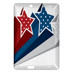 Star Red Blue White Line Space Amazon Kindle Fire Hd (2013) Hardshell Case by Mariart