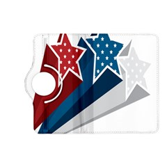 Star Red Blue White Line Space Kindle Fire Hd (2013) Flip 360 Case by Mariart