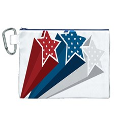 Star Red Blue White Line Space Canvas Cosmetic Bag (xl) by Mariart