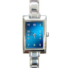 Fractals Lines Wave Pattern Rectangle Italian Charm Watch by Nexatart