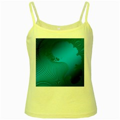 Fractals Lines Wave Pattern Yellow Spaghetti Tank by Nexatart