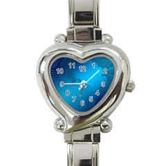 Fractals Lines Wave Pattern Heart Italian Charm Watch by Nexatart