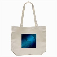 Fractals Lines Wave Pattern Tote Bag (cream) by Nexatart