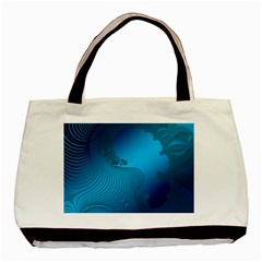 Fractals Lines Wave Pattern Basic Tote Bag (two Sides) by Nexatart
