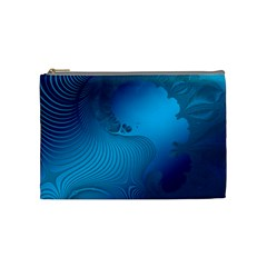 Fractals Lines Wave Pattern Cosmetic Bag (medium)
