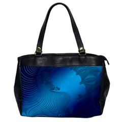 Fractals Lines Wave Pattern Office Handbags