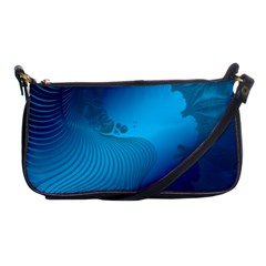 Fractals Lines Wave Pattern Shoulder Clutch Bags