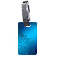 Fractals Lines Wave Pattern Luggage Tags (one Side)  by Nexatart