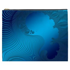 Fractals Lines Wave Pattern Cosmetic Bag (xxxl)  by Nexatart