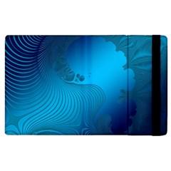 Fractals Lines Wave Pattern Apple Ipad 3/4 Flip Case by Nexatart