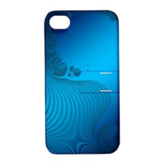 Fractals Lines Wave Pattern Apple Iphone 4/4s Hardshell Case With Stand