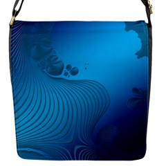Fractals Lines Wave Pattern Flap Messenger Bag (s)