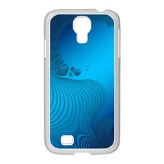 Fractals Lines Wave Pattern Samsung Galaxy S4 I9500/ I9505 Case (white) by Nexatart