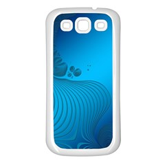 Fractals Lines Wave Pattern Samsung Galaxy S3 Back Case (white)