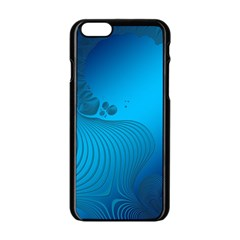 Fractals Lines Wave Pattern Apple Iphone 6/6s Black Enamel Case by Nexatart