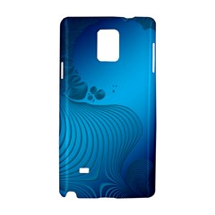 Fractals Lines Wave Pattern Samsung Galaxy Note 4 Hardshell Case by Nexatart