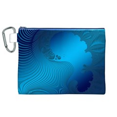 Fractals Lines Wave Pattern Canvas Cosmetic Bag (xl) by Nexatart